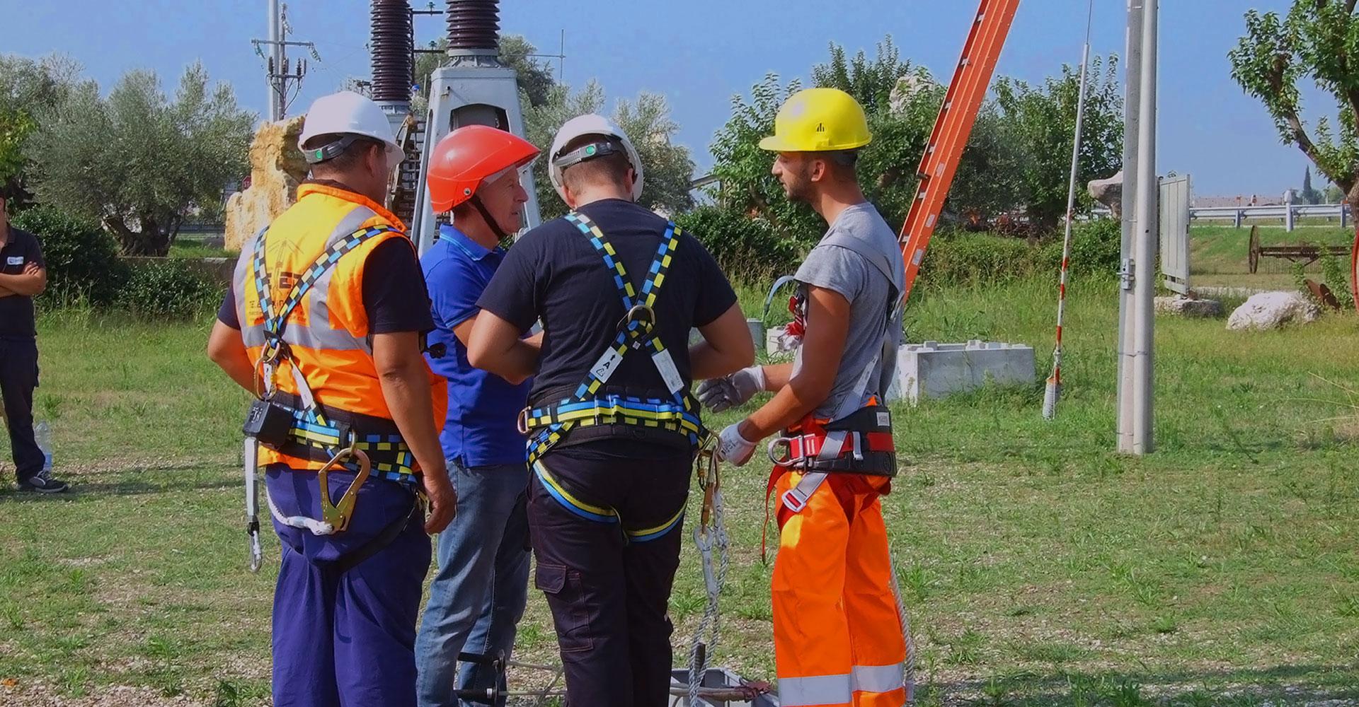 formazione Enel lavori in quota